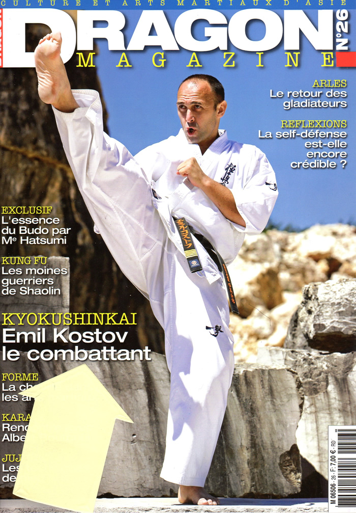 Le stage national France Kyokushin dans Dragon Magazine