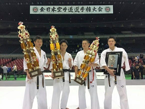 Podium du 49th All Japan Open Karate Championship Kyokushinkai