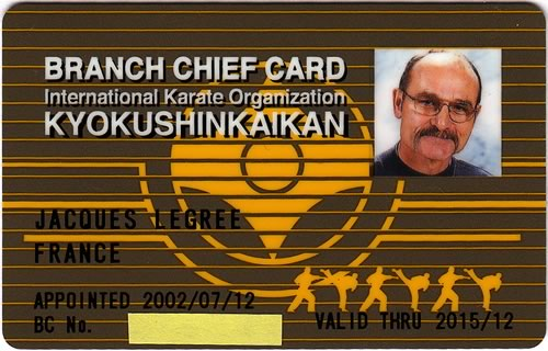 Shihan Jacques Legrée, le Branch Chief de France Kyokushin