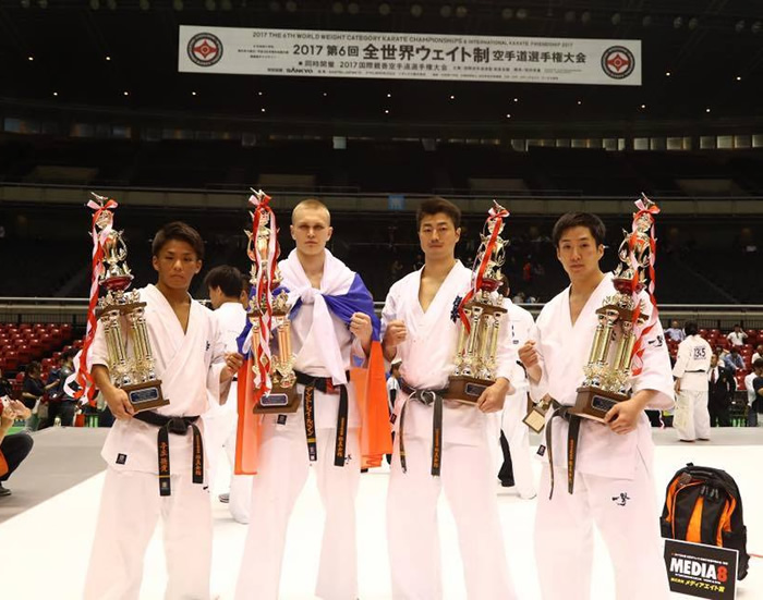 Vainqueurs du 6e championnat du monde de karaté Kyokushinkai 'International Karate Friendship' 2017