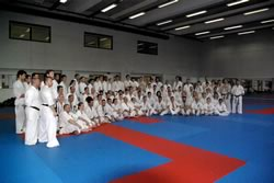 Photo de groupe lors du stage National France Kyokushin 2010