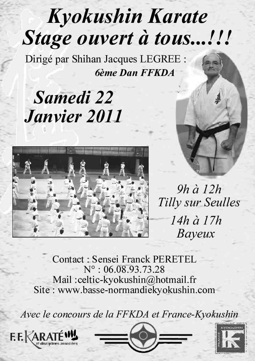 Stage avec Shihan Jacques LEGREE en normandie